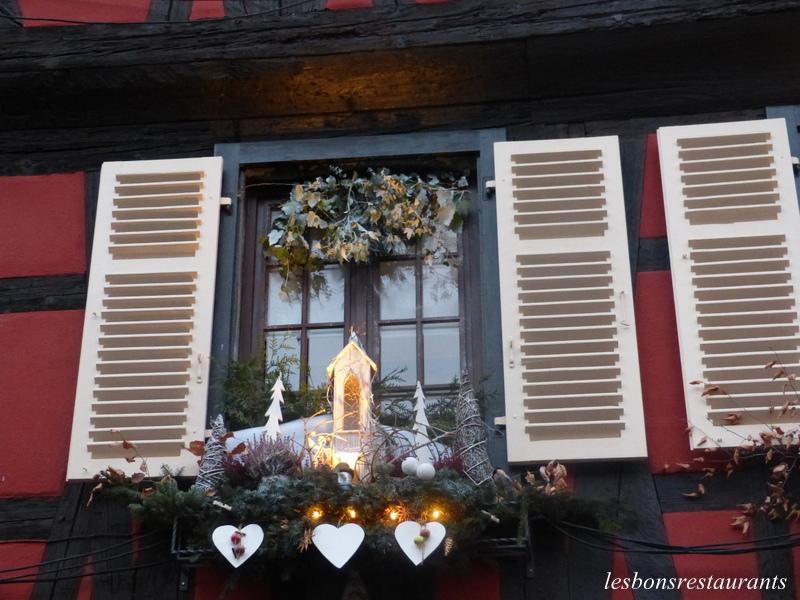 Les bons restaurants marc et sylvie muller marc et sylvie for Decoration fenetre noel alsace