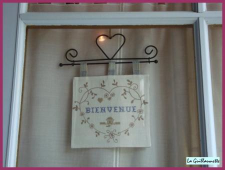 Coeur bienvenue pour meschers la guillaumette for Pancarte bienvenue pour porte