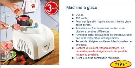 Machine glace chez lidl la guillaumette - Machine a glace italienne maison ...