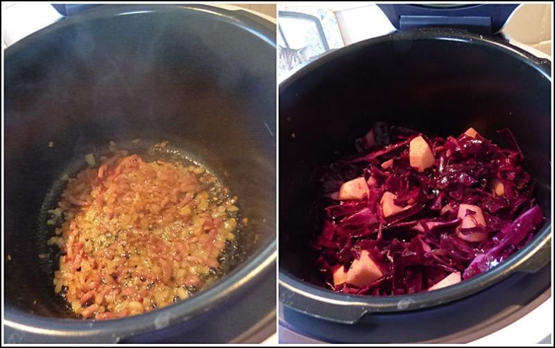 Stoemp au chou rouge version avec cook o la guillaumette - Cookeo cuisson sous pression ...