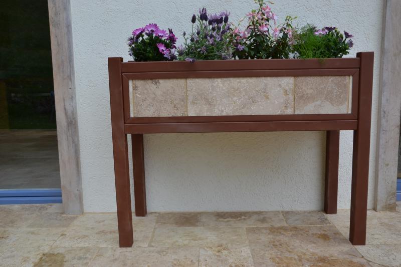 jardini re sur pieds caisse d 39 orangerie bois de rose. Black Bedroom Furniture Sets. Home Design Ideas