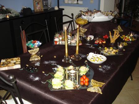 Buffet dinatoire du r veillon nouvel an tout simplement nous for Decoration table buffet dinatoire