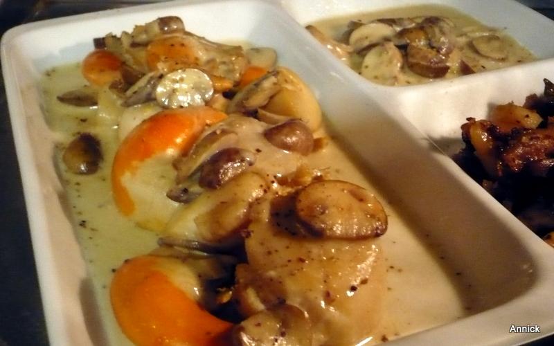 Coquilles st jacques champignons pommes de terre crignes le blog de titanique - Coquille saint jacques bretonne champignons ...